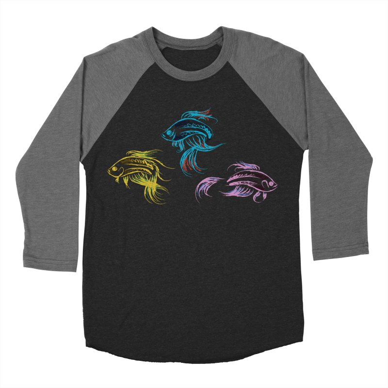 Neon Betta Fish Women's Baseball Triblend T-Shirt by Kamonkey's Artist Shop