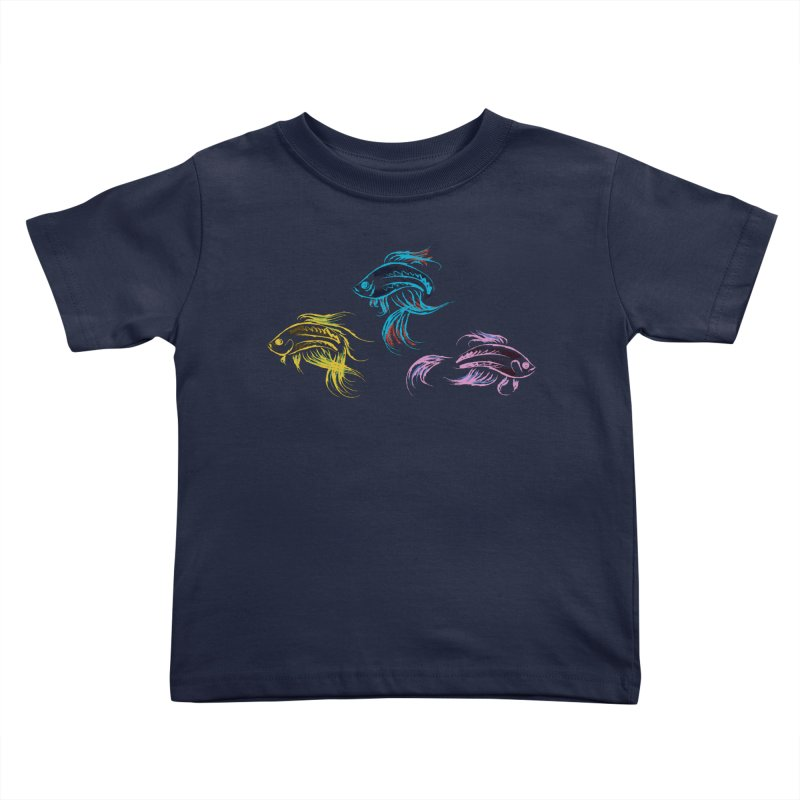 Neon Betta Fish Kids Toddler T-Shirt by Kamonkey's Artist Shop