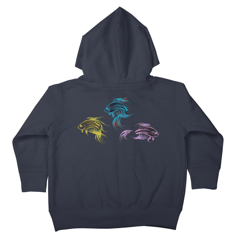 Neon Betta Fish Kids Toddler Zip-Up Hoody by Kamonkey's Artist Shop