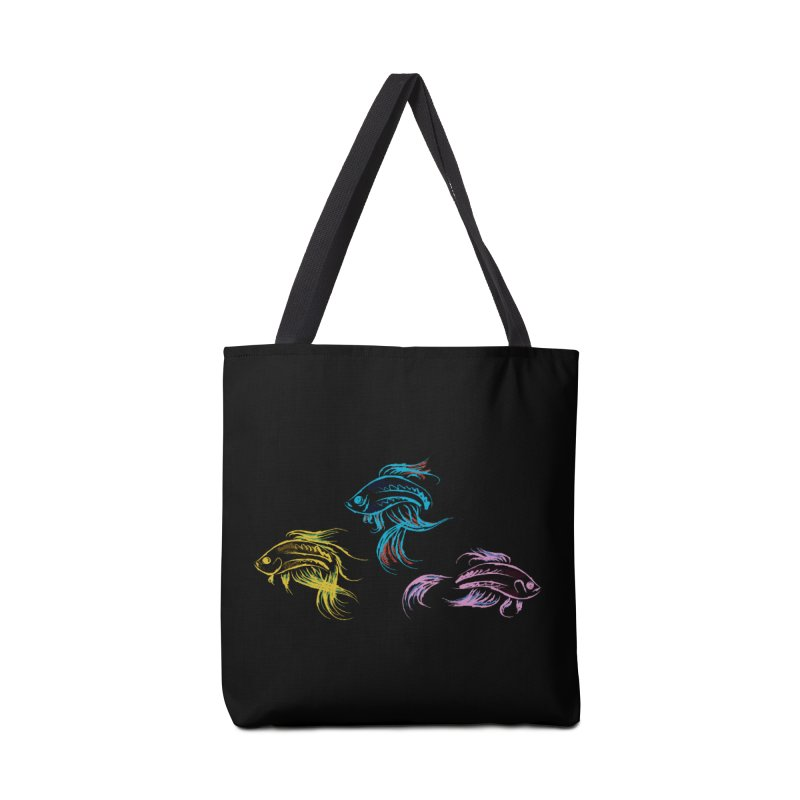 Neon Betta Fish Accessories Tote Bag Bag by Kamonkey's Artist Shop