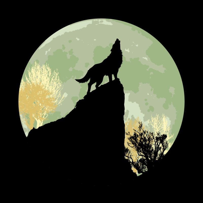 Wolf Howling Women's Scoop Neck by Kamonkey's Artist Shop
