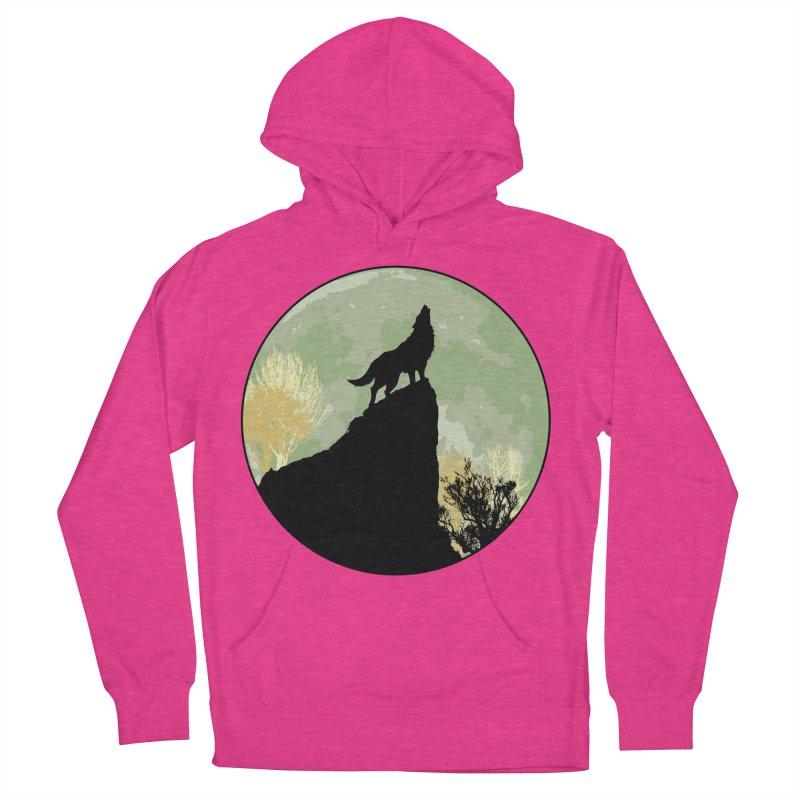 Wolf Howling Women's Pullover Hoody by Kamonkey's Artist Shop