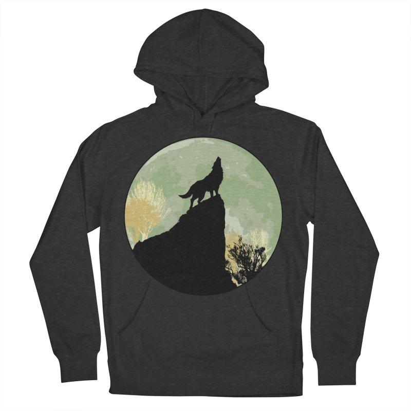 Wolf Howling Men's Pullover Hoody by Kamonkey's Artist Shop