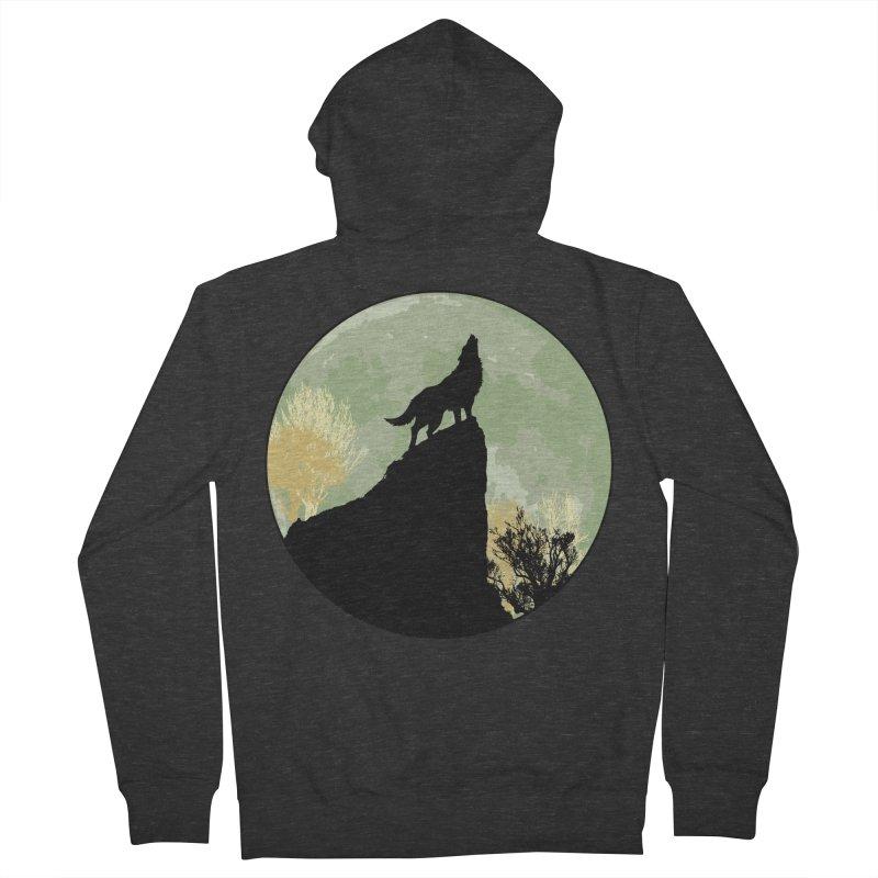 Wolf Howling Women's Zip-Up Hoody by Kamonkey's Artist Shop