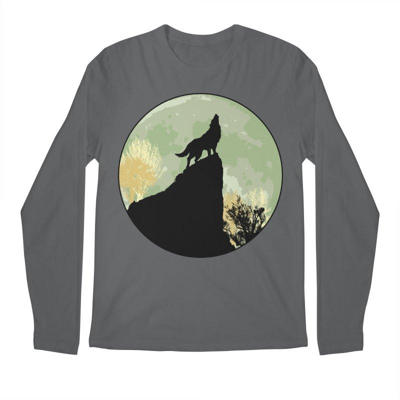 Wolf Howling Men's Longsleeve T-Shirt by Kamonkey's Artist Shop