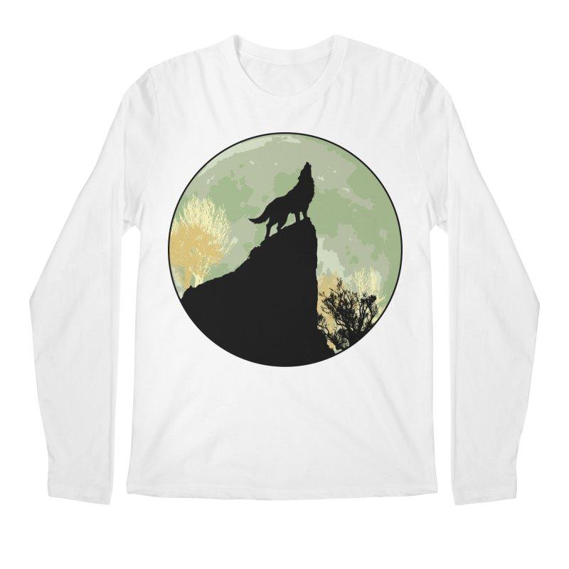 Wolf Howling Men's Regular Longsleeve T-Shirt by Kamonkey's Artist Shop
