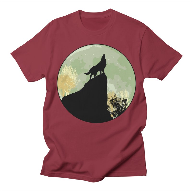 Wolf Howling Men's Regular T-Shirt by Kamonkey's Artist Shop