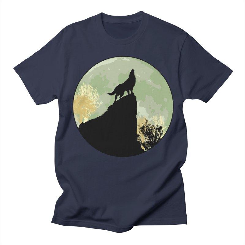 Wolf Howling Women's Unisex T-Shirt by Kamonkey's Artist Shop