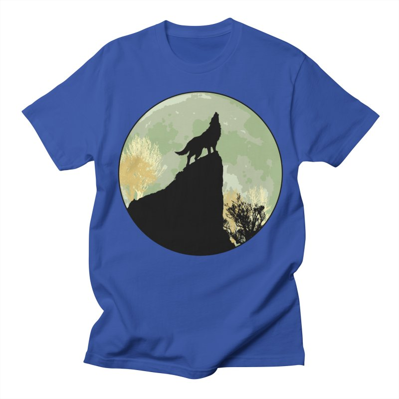 Wolf Howling Women's Regular Unisex T-Shirt by Kamonkey's Artist Shop