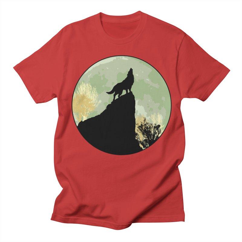 Wolf Howling Men's Regular T-Shirt by Kamonkey's Artist Shop