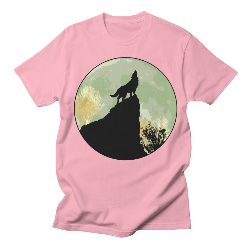 Wolf Howling Men's T-shirt by Kamonkey's Artist Shop