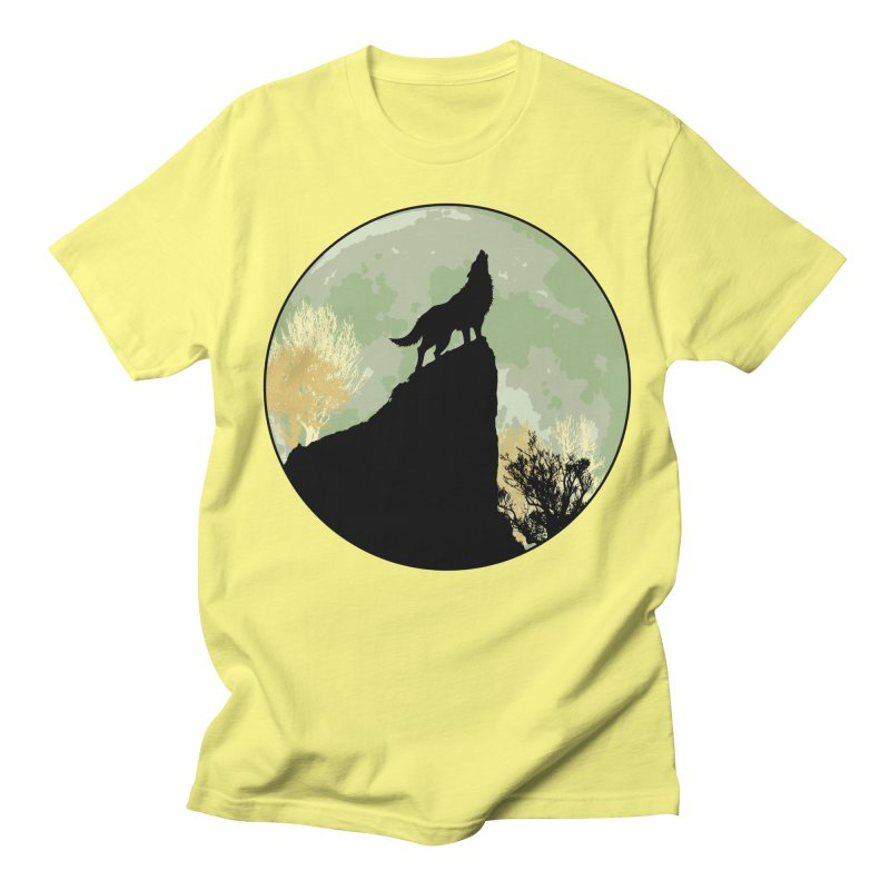 Wolf Howling Women's Regular Unisex T-Shirt by Kamonkey's Artist Shop