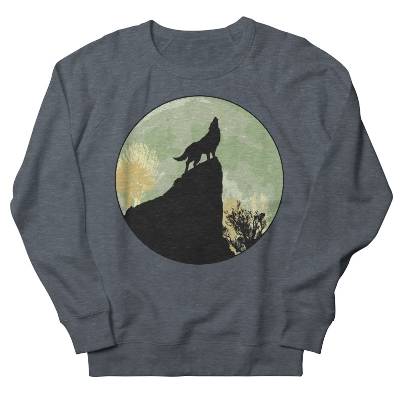 Wolf Howling Women's French Terry Sweatshirt by Kamonkey's Artist Shop