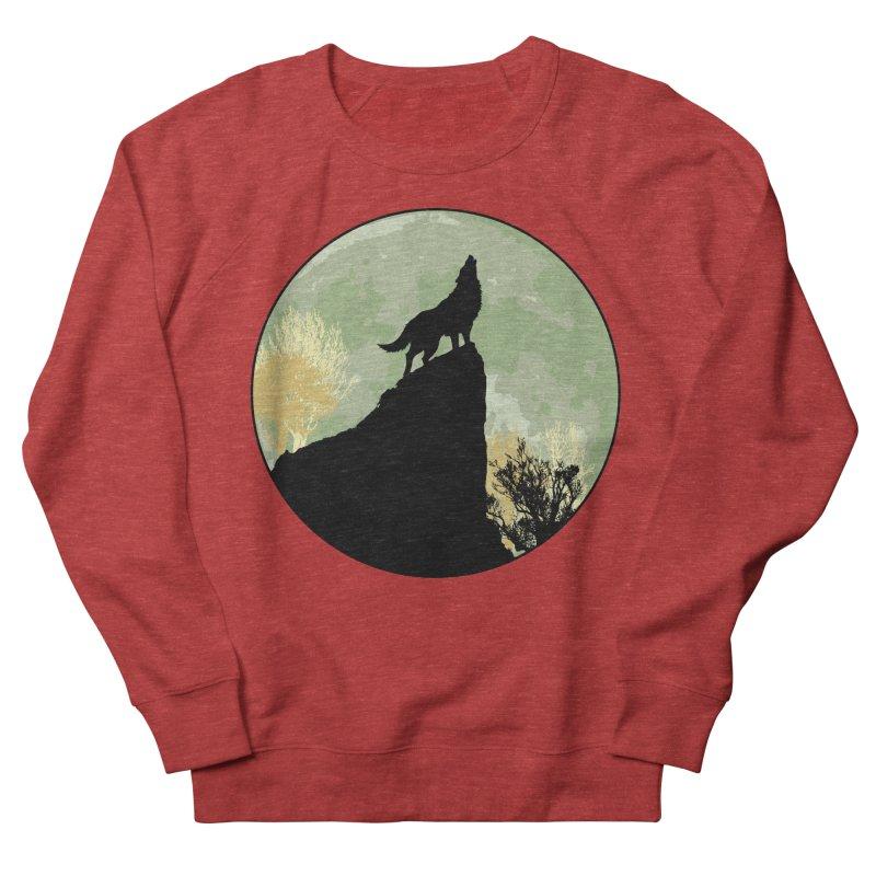 Wolf Howling Women's Sweatshirt by Kamonkey's Artist Shop