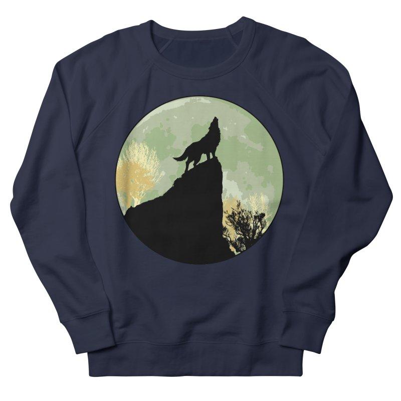 Wolf Howling Men's Sweatshirt by Kamonkey's Artist Shop