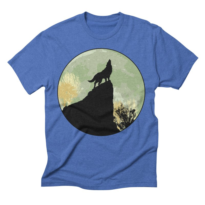 Wolf Howling Men's Triblend T-Shirt by Kamonkey's Artist Shop