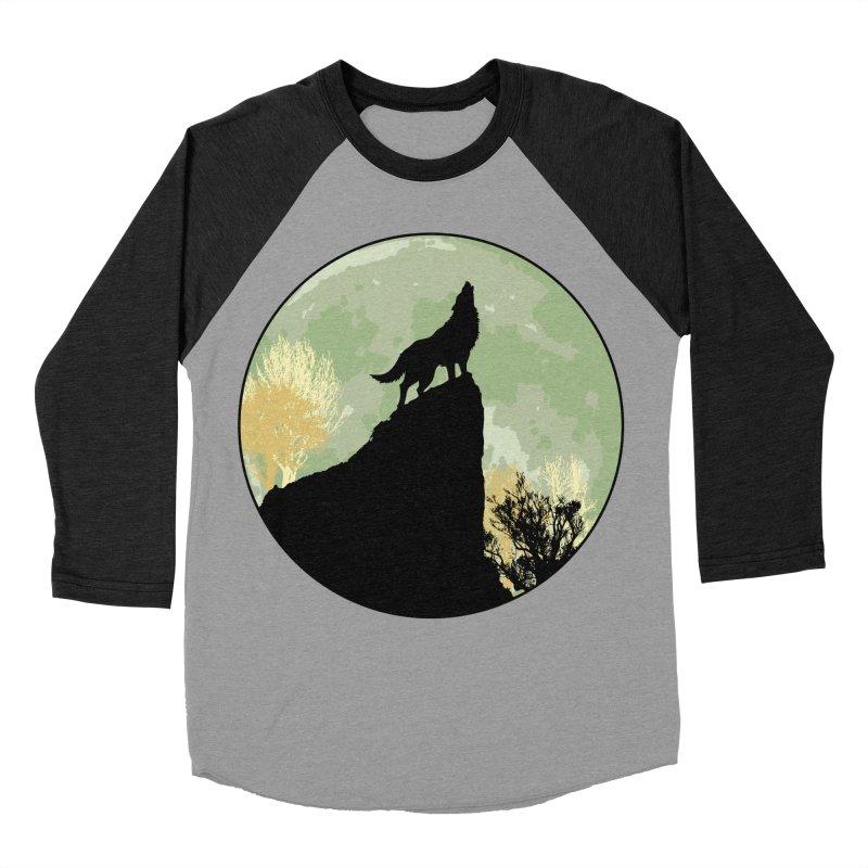 Wolf Howling Women's Baseball Triblend T-Shirt by Kamonkey's Artist Shop