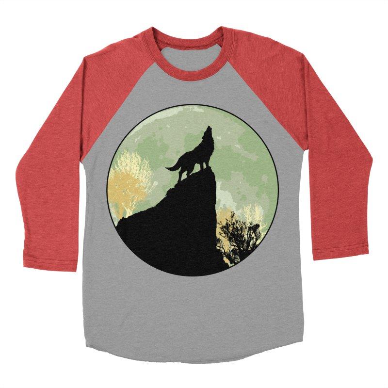 Wolf Howling Men's Baseball Triblend T-Shirt by Kamonkey's Artist Shop