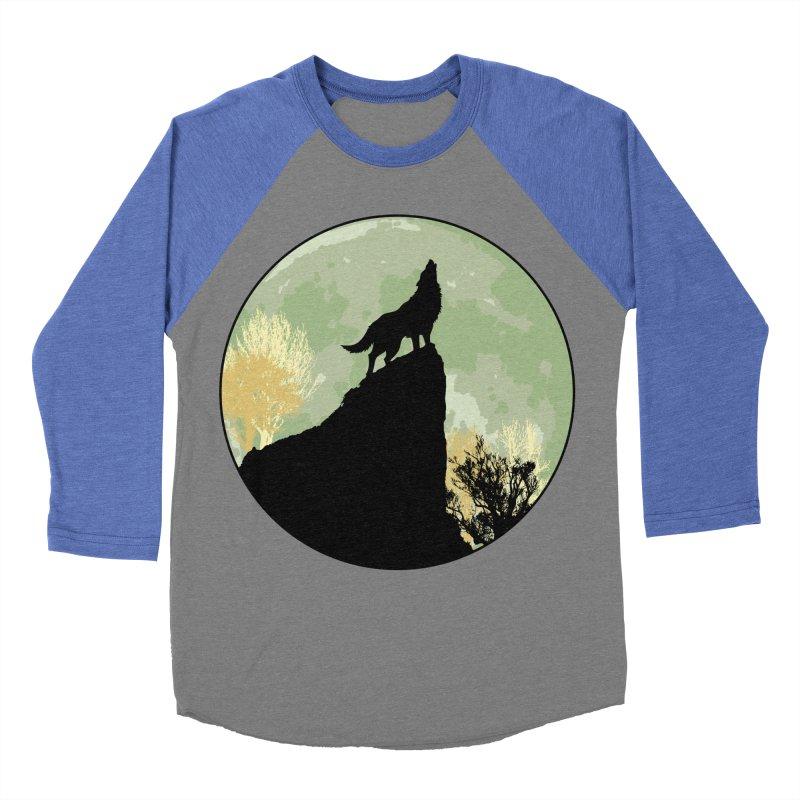 Wolf Howling Men's Baseball Triblend Longsleeve T-Shirt by Kamonkey's Artist Shop