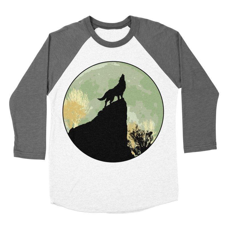 Wolf Howling Men's Baseball Triblend T-Shirt by Kamonkey's Artist Shop