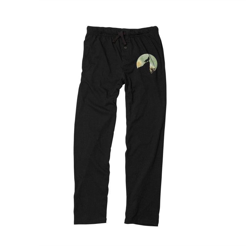 Wolf Howling Women's Lounge Pants by Kamonkey's Artist Shop