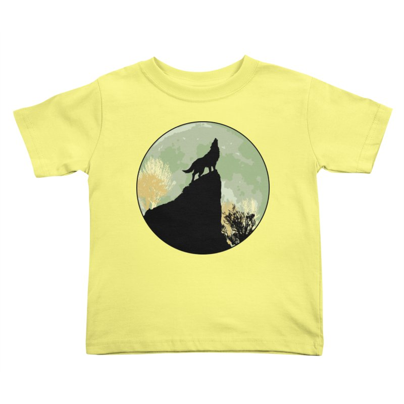 Wolf Howling Kids Toddler T-Shirt by Kamonkey's Artist Shop
