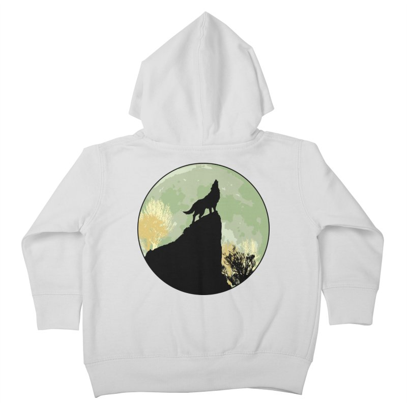 Wolf Howling Kids Toddler Zip-Up Hoody by Kamonkey's Artist Shop