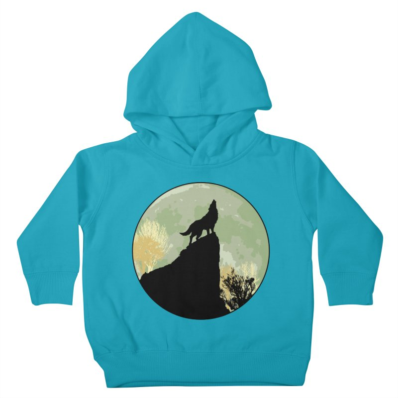 Wolf Howling Kids Toddler Pullover Hoody by Kamonkey's Artist Shop