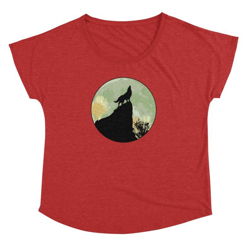 Wolf Howling Women's Dolman by Kamonkey's Artist Shop