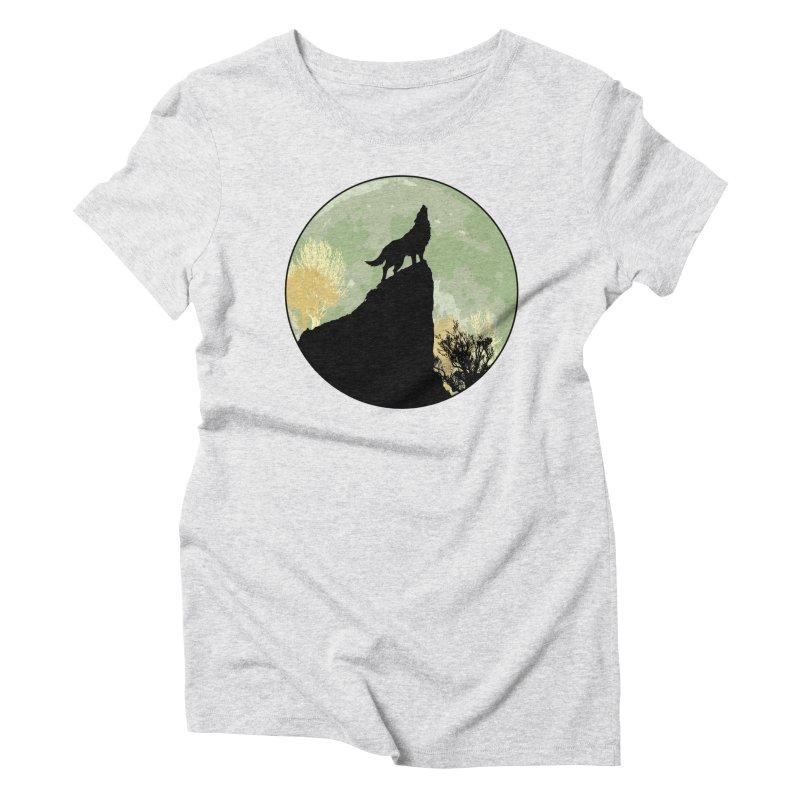 Wolf Howling Women's Triblend T-shirt by Kamonkey's Artist Shop
