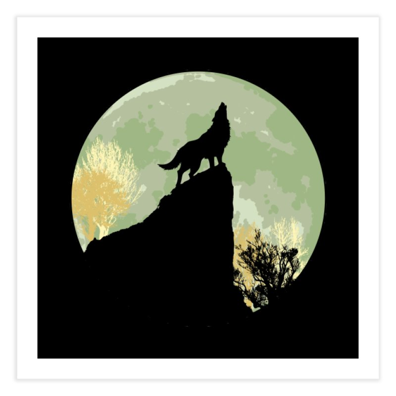 Wolf Howling Home Fine Art Print by Kamonkey's Artist Shop
