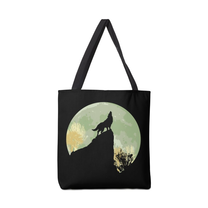 Wolf Howling Accessories Tote Bag Bag by Kamonkey's Artist Shop