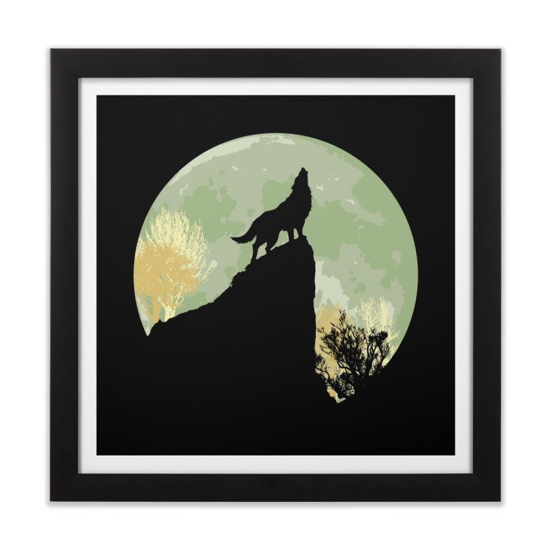 Wolf Howling Home Framed Fine Art Print by Kamonkey's Artist Shop