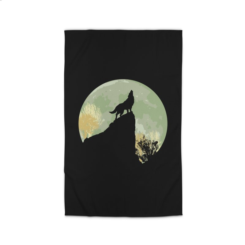 Wolf Howling Home Rug by Kamonkey's Artist Shop