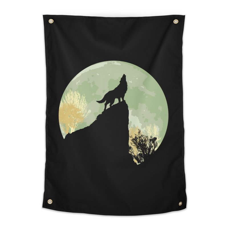 Wolf Howling Home Tapestry by Kamonkey's Artist Shop