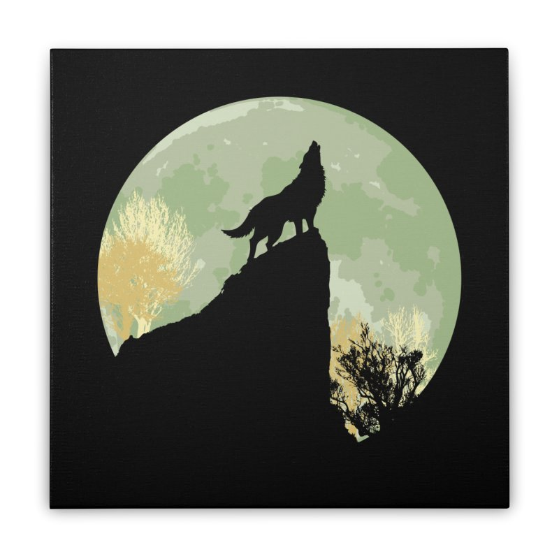 Wolf Howling Home Stretched Canvas by Kamonkey's Artist Shop