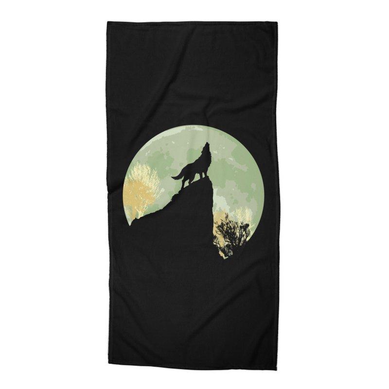 Wolf Howling Accessories Beach Towel by Kamonkey's Artist Shop