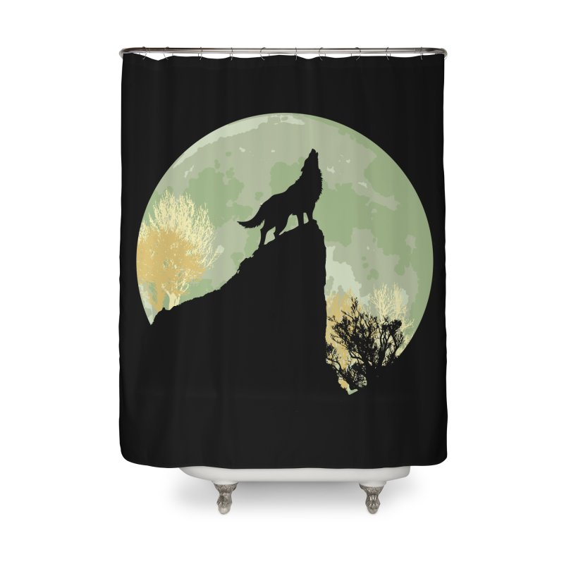 Wolf Howling Home Shower Curtain by Kamonkey's Artist Shop