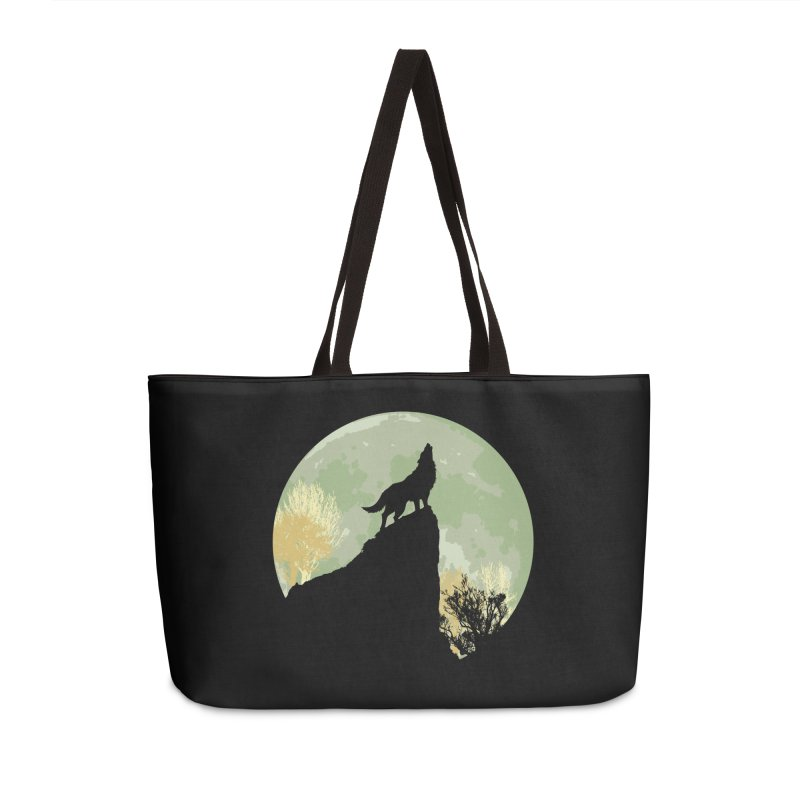 Wolf Howling Accessories Weekender Bag Bag by Kamonkey's Artist Shop