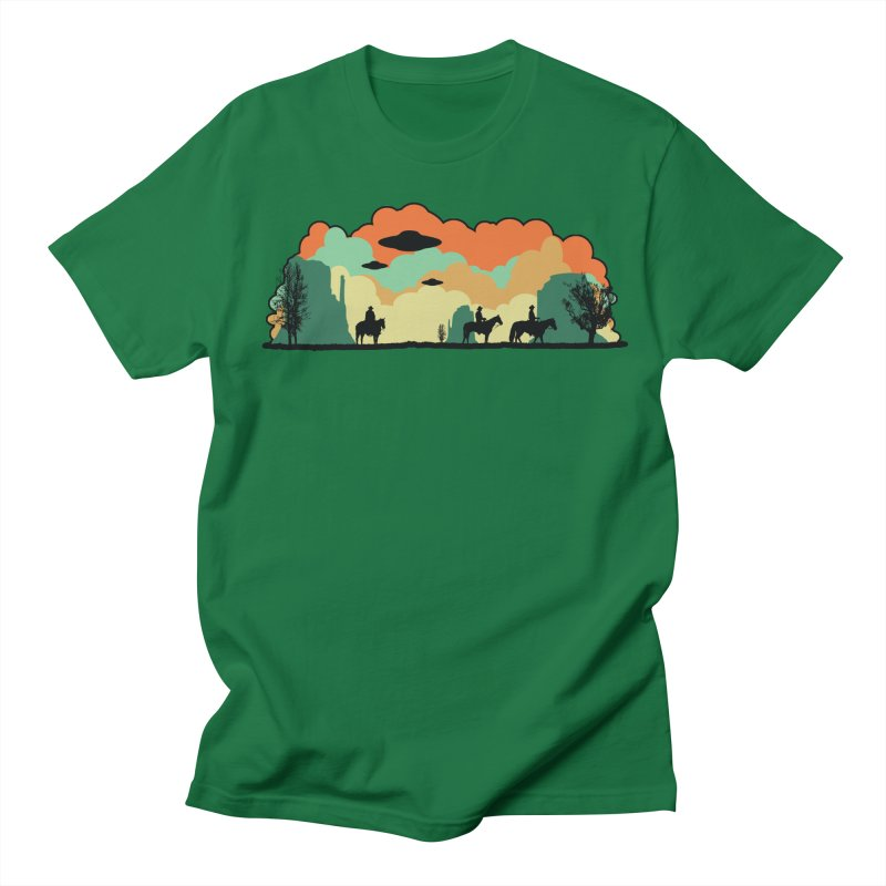 Cowboys & Aliens Men's Regular T-Shirt by Kamonkey's Artist Shop