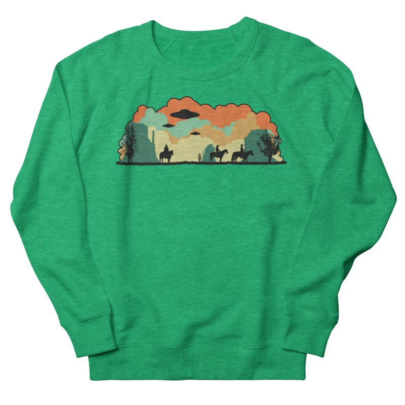Cowboys & Aliens Men's French Terry Sweatshirt by Kamonkey's Artist Shop
