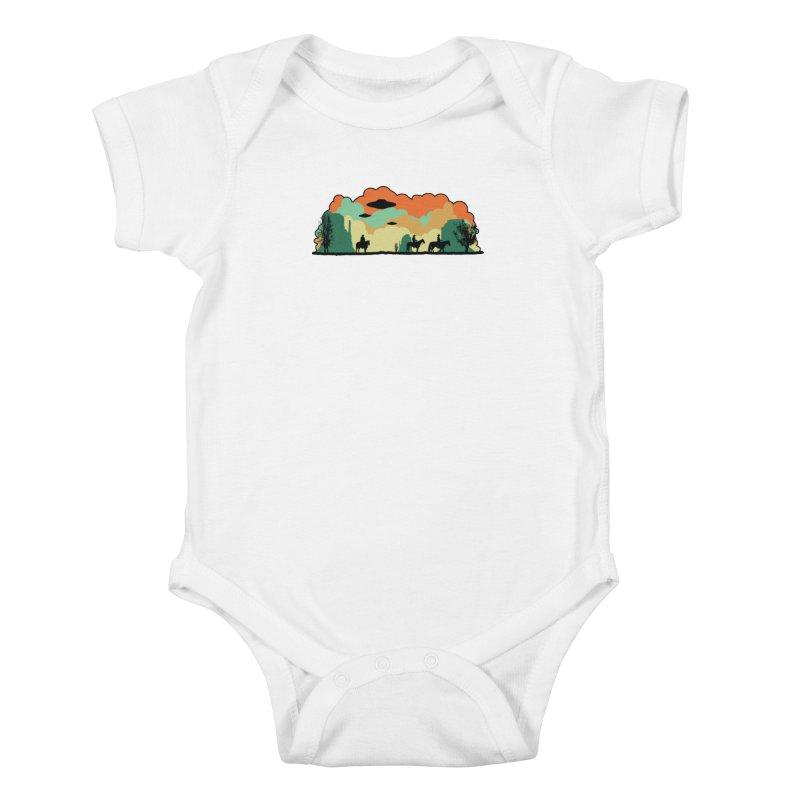 Cowboys & Aliens Kids Baby Bodysuit by Kamonkey's Artist Shop