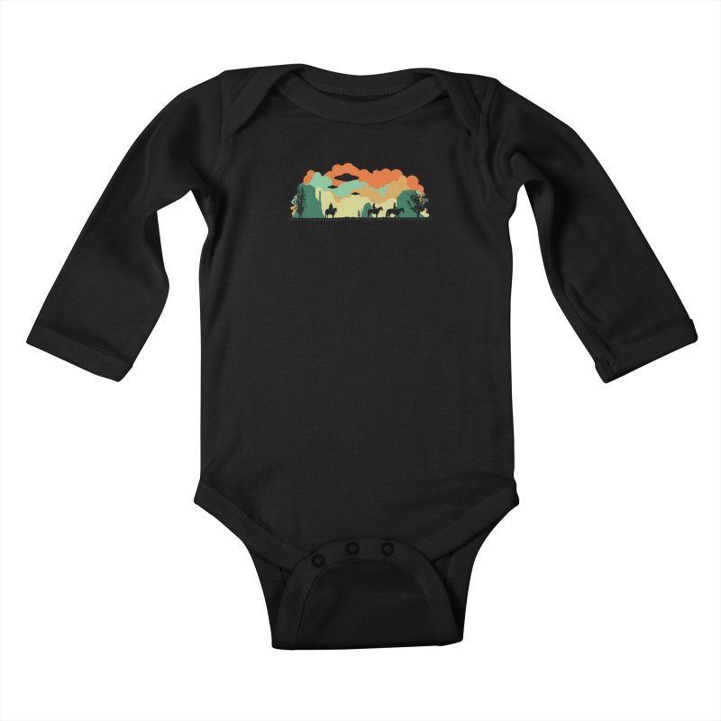 Cowboys & Aliens Kids Baby Longsleeve Bodysuit by Kamonkey's Artist Shop