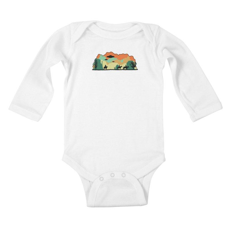 Cowboys & Aliens Kids Baby Longsleeve Bodysuit by Kamonkey's Artist Shop