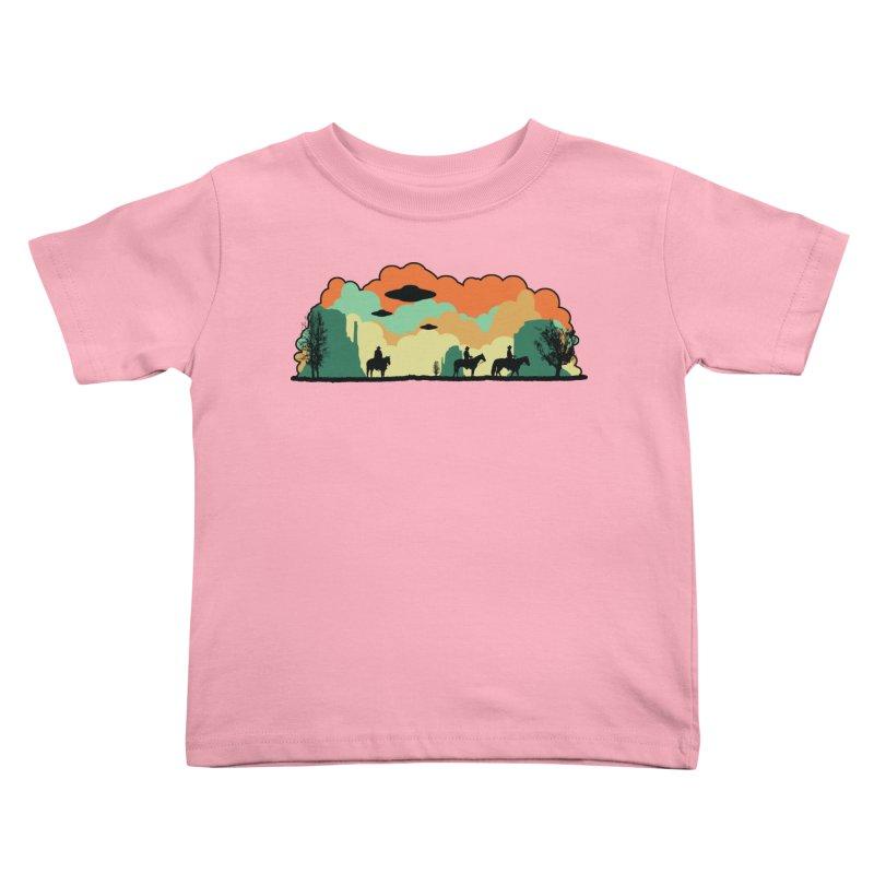 Cowboys & Aliens Kids Toddler T-Shirt by Kamonkey's Artist Shop