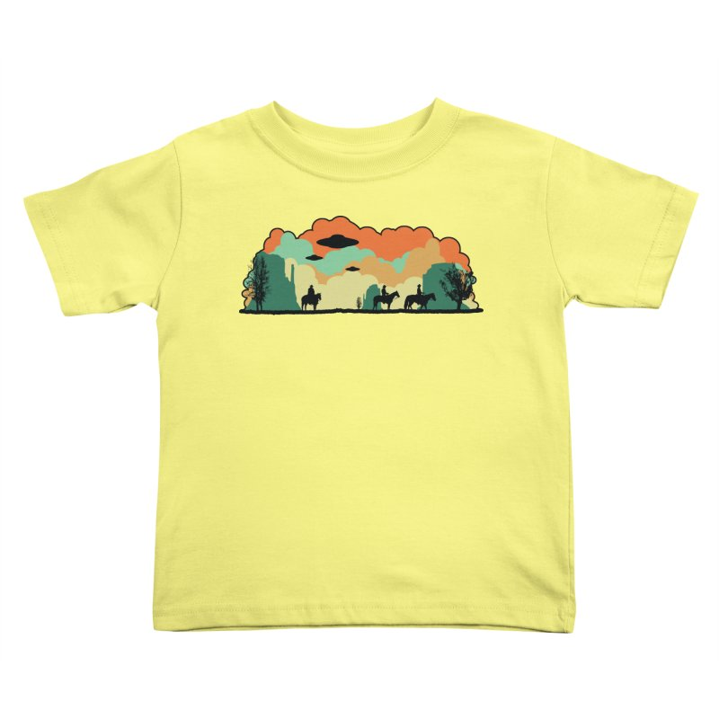 Cowboys & Aliens Kids Toddler T-Shirt by Kamonkey's Artist Shop