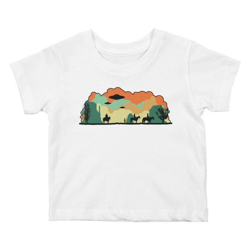 Cowboys & Aliens Kids Baby T-Shirt by Kamonkey's Artist Shop