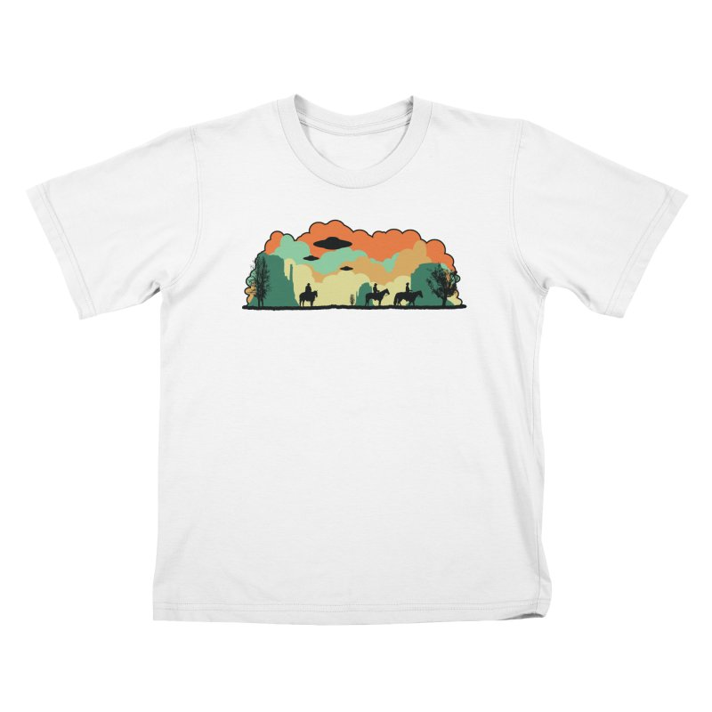 Cowboys & Aliens Kids T-Shirt by Kamonkey's Artist Shop