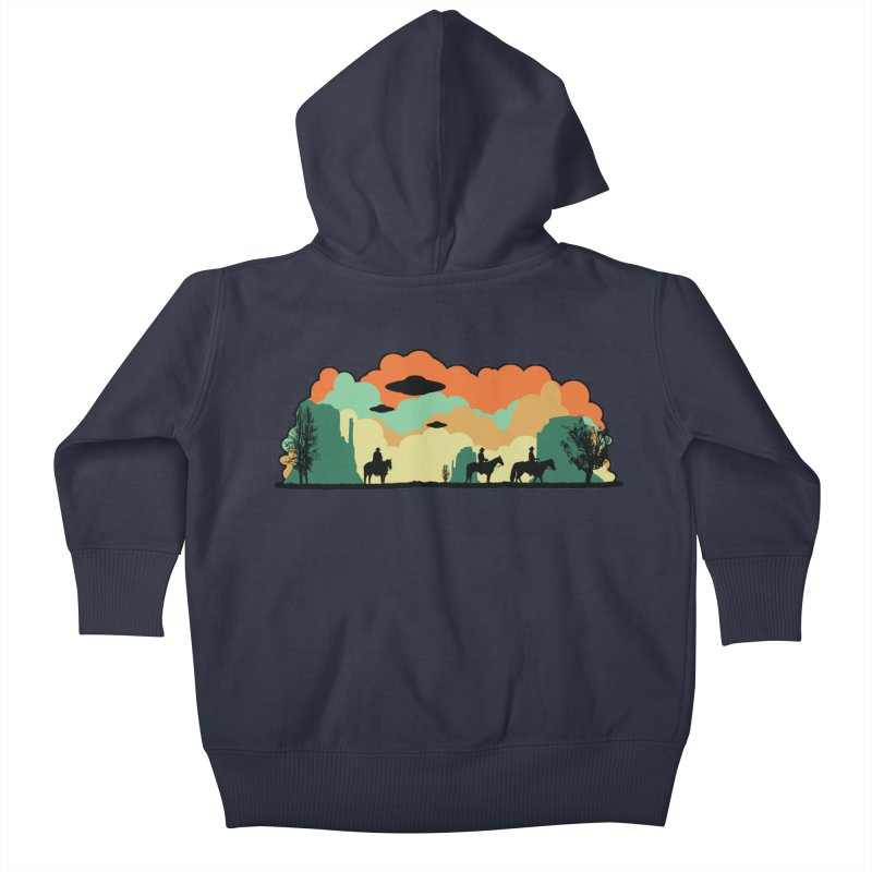 Cowboys & Aliens Kids Baby Zip-Up Hoody by Kamonkey's Artist Shop