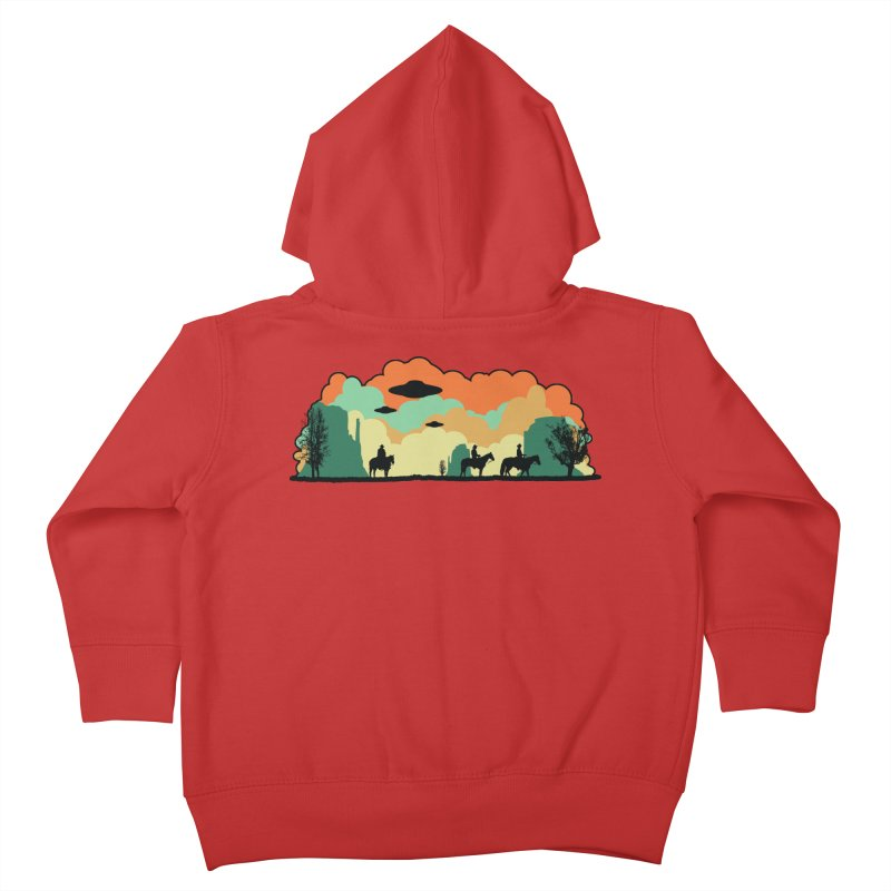 Cowboys & Aliens Kids Toddler Zip-Up Hoody by Kamonkey's Artist Shop